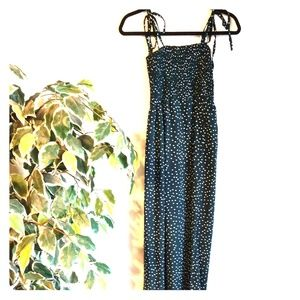 NWOT jumpsuit green with dots size S